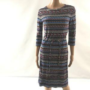 Emilio Pucci Women's Belted Dress Geometric Size 8